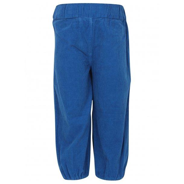 Bequeme Cord Baggy Hosen in Royal Blau