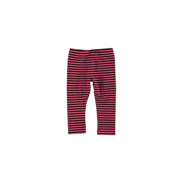 MINI NITLOPAN LEGGINGS - tolle pink-schwarz gestreiften Leggings - von Name it