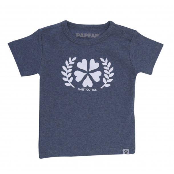 Papfar - Schöne Lucas T-Shirt in blau melange