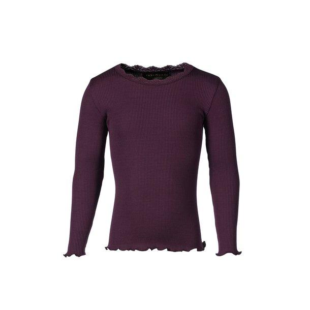 Shirt in schönes Seide-Baumwolle - blackberry