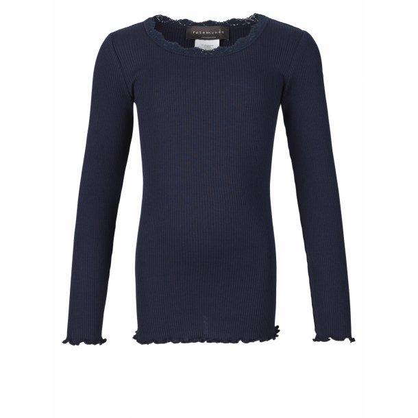 Rosemunde - Shirt in Seide und Baumwolle, Navy