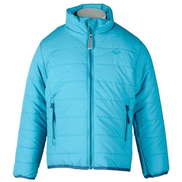 Mikk-Line - schöne DUVET gepolsterte leichte Jacke, Türkis mit blaue Details