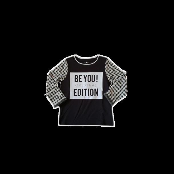 Cool schwarz-weiß Sweatshirt - NITLAHOUND K LS SWEAT 515 - von Name it