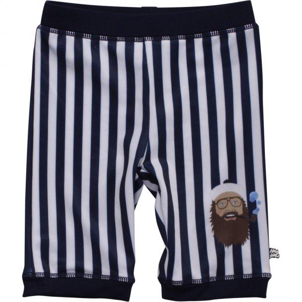 Ramasjang Kluns - Onkel Reje Badehosen UV 50+, Navy-Weiß gestreiften