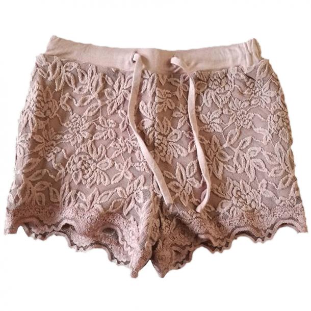 Rosemunde shorts in schönes Seide-Baumwolle - Woodrose, gebrannt rosa