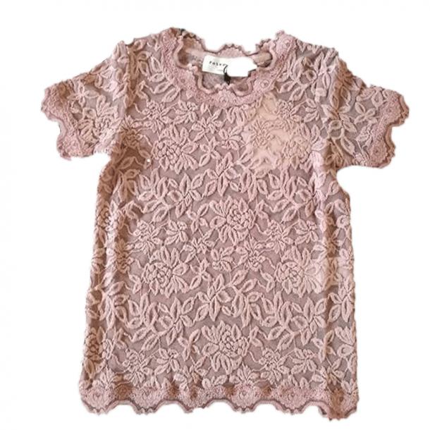 Rosemunde T-Shirt mit Spitzen - Woodrose, gebrannt rosa